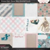 Winter Fun- Snow Baby Journal Cards