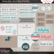 Winter Fun- Snow Baby Print Kit