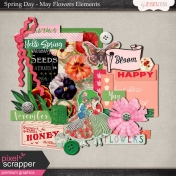 Spring Day Collab- May Flowers Elements