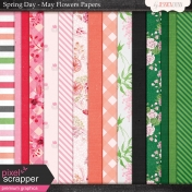 Spring Day Collab- May Flowers Papers
