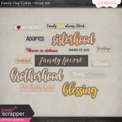 Family Day- Word Art