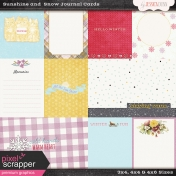 Sunshine and Snow Journal Cards