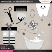 Baby Shower Element Templates No 1