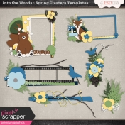 Into the Woods- Spring Clusters Templates