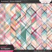 June Good Life- Summer Plaid Papers