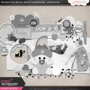 Winter Fun Snow Baby Templates- Elements
