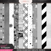 Winter Fun Snow Baby Templates- Papers 01