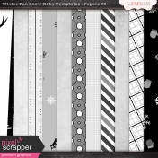 Winter Fun Snow Baby Templates- Papers 02