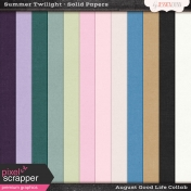 Summer Twilight Solid Papers