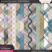 August Good Life- Summer Twilight Plaid Papers