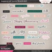 Legacy of Love Word Art