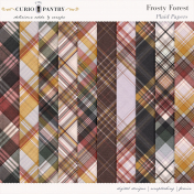 Frosty Forest Plaid Papers