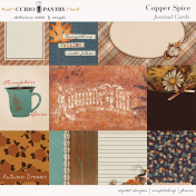 Copper Spice Journal Cards