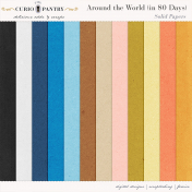 Around the World {In 80 Days} Solid Papers