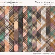 Vintage Memories: Genealogy Plaid Papers