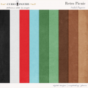 Retro Picnic Solid Papers