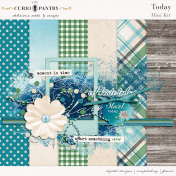 Pixel Scrapper Mini Kit - Today; Digital scrapbooking papers and elements