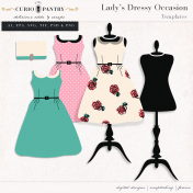Lady's Dressy Occasion Templates
