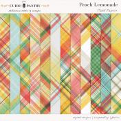 Peach Lemonade Plaid Papers