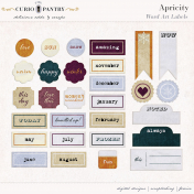 Apricity Word Art Labels