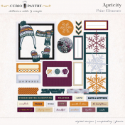 Apricity Print: Elements