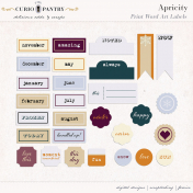 Apricity Print : Word Art Labels