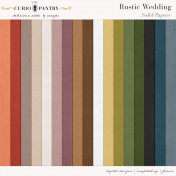 Rustic Wedding Solid Papers