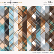 Let's Fika Plaid Papers