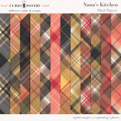 Nana's Kitchen Plaid Papers