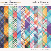 Backyard Summer Plaid Papers