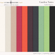 Garden Notes Solid Papers