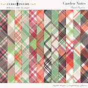 Garden Notes Plaid Papers