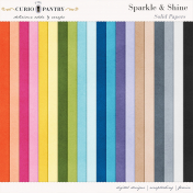 Sparkle and Shine Solid Papers