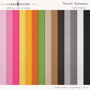 Sweet Autumn Solid Papers