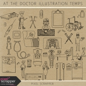 At the Doctor Illustrations Templates Kit