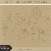 Ballet Illustrations Templates Kit