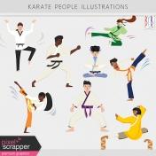 Karate People Illustrations Kit