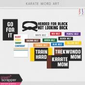 Karate Word Art Kit