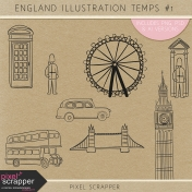 England Illustration Templates Kit #1