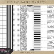 England Paper Templates Kit