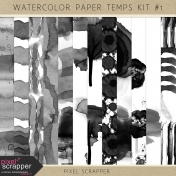 Watercolor Paper Templates Kit #1