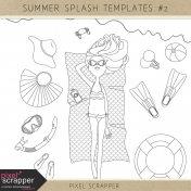 Summer Splash Templates Kit #2