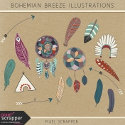 Bohemian Breeze Illustrations Kit