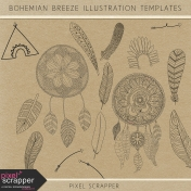 Bohemian Breeze Illustration Templates Kit