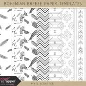 Bohemian Breeze Paper Templates Kit