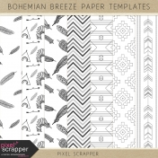 Bohemian Breeze Paper Templates Kit