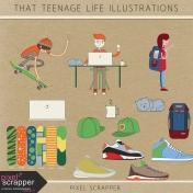 That Teenage Life Illustrations Kit