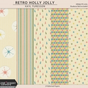 Retro Holly Jolly Papers