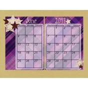 Build Your Basics Plaid Paper June Calendar
