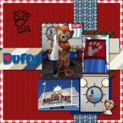 Duffy Bear at Disney California
